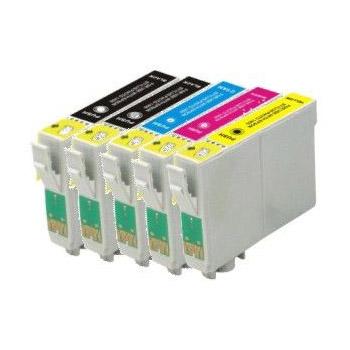 Cartouche imprimante LDLC pack économique compatible Epson T128 (2x BK + C + M + Y) Lot de 5 cartouches (2 noires + 1 cyan + 1 magenta + 1 jaune)