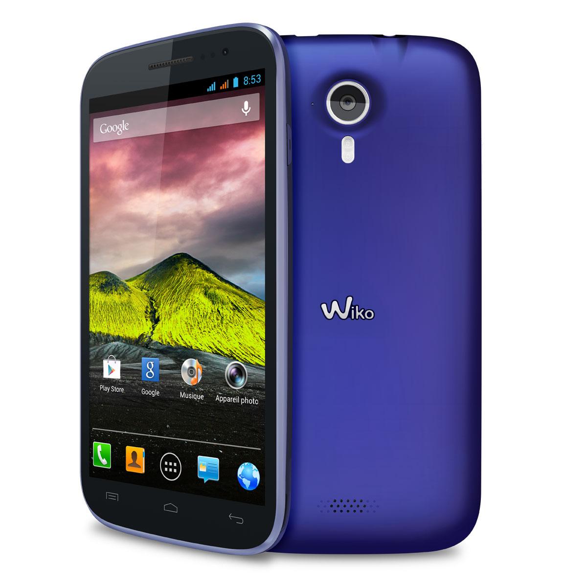 """Mobile & smartphone Wiko Cink Five Velvet Blue Smartphone 3G+ Dual Sim avec écran tactile HD 5.0"""" sous Android 4.1"""
