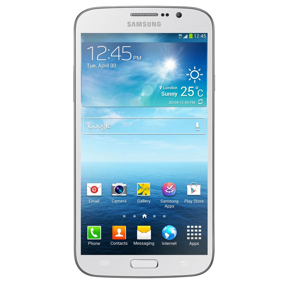 "Mobile & smartphone Samsung Galaxy Mega 6.3 GT-i9205 Blanc Smartphone 4G-LTE avec écran tactile HD 6.3"" sous Android 4.2"
