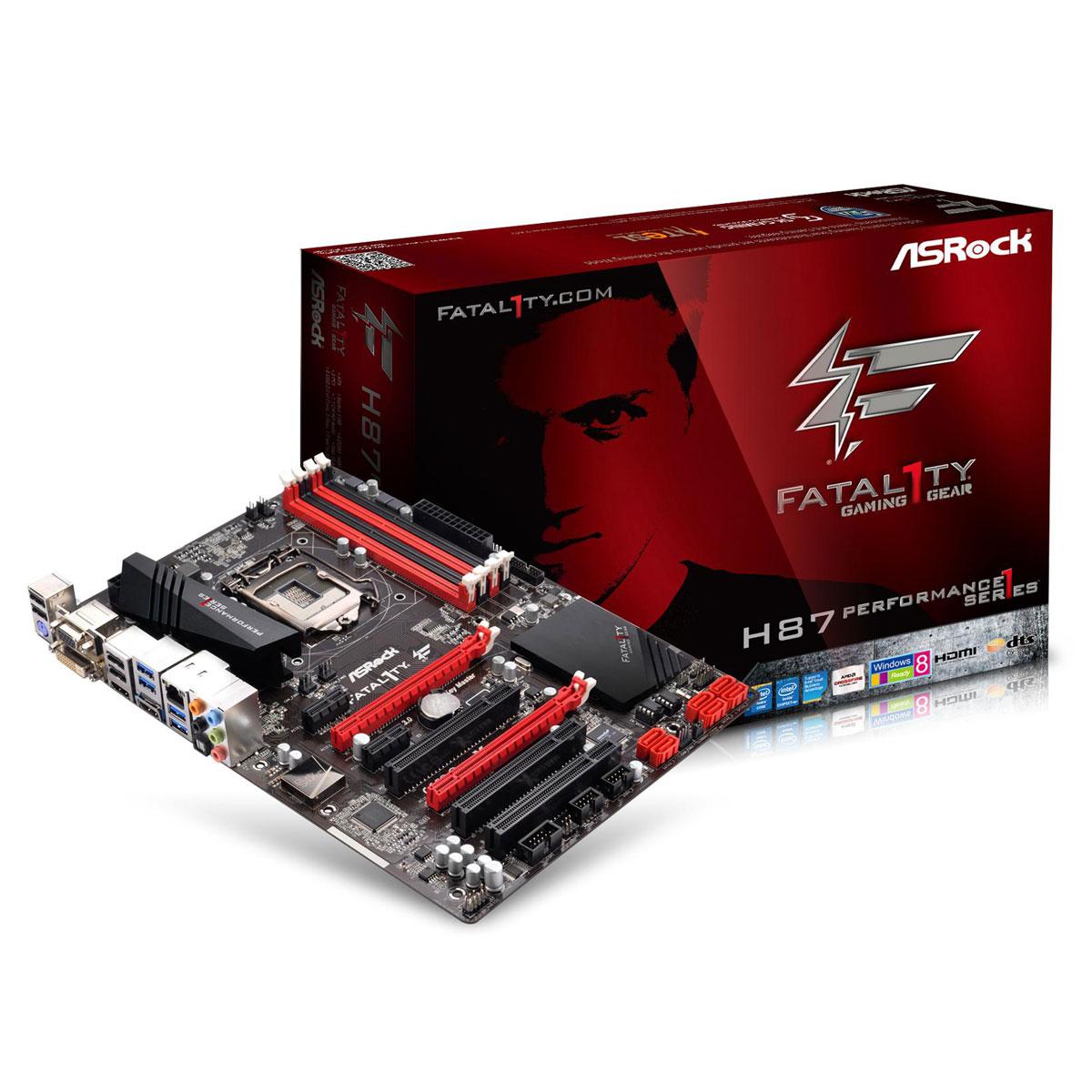 Carte mère ASRock H87 Performance Carte mère ATX Socket 1150 Intel H87 Express - SATA 6Gb/s - USB 3.0 - 1x PCI-Express 3.0 16x + 1x PCI-Express 2.0 16x