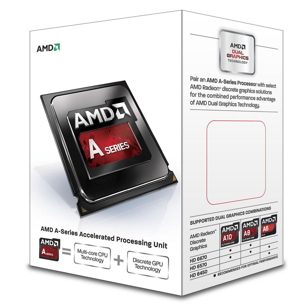 Processeur AMD A8-7600 (3.1 GHz) Processeur Quad Core socket FM2+ Cache L2 4 Mo Radeon R7 Series D 0.028 micron (version boîte - garantie constructeur 3 ans)