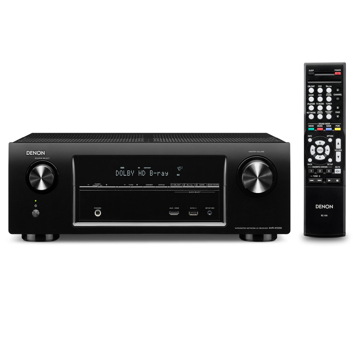 denon avr x1000 noir ampli home cin ma denon sur ldlc. Black Bedroom Furniture Sets. Home Design Ideas