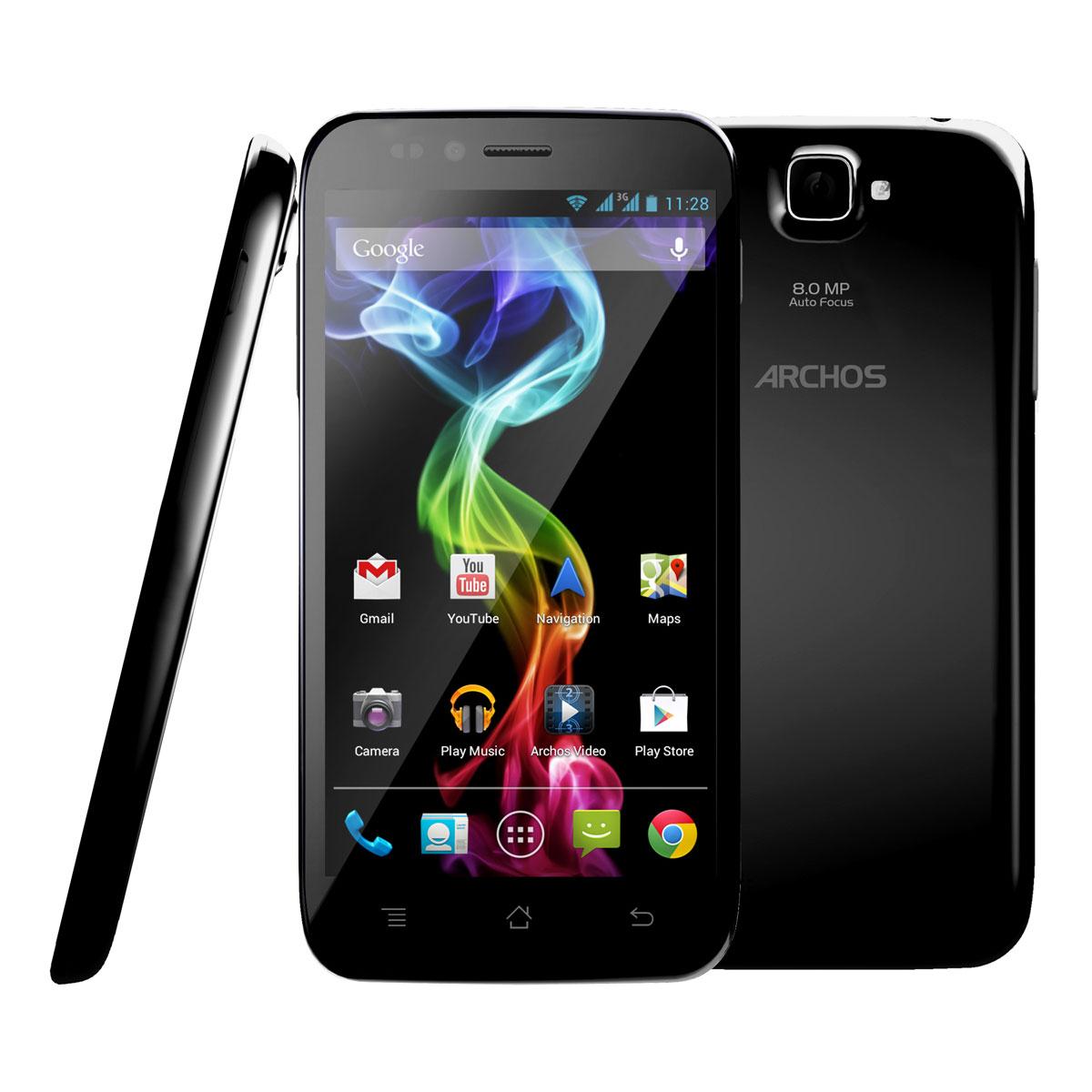 """Mobile & smartphone Archos 50 Platinum Smartphone 3G+ Dual Sim avec écran tactile 5.0"""" sous Android 4.1"""