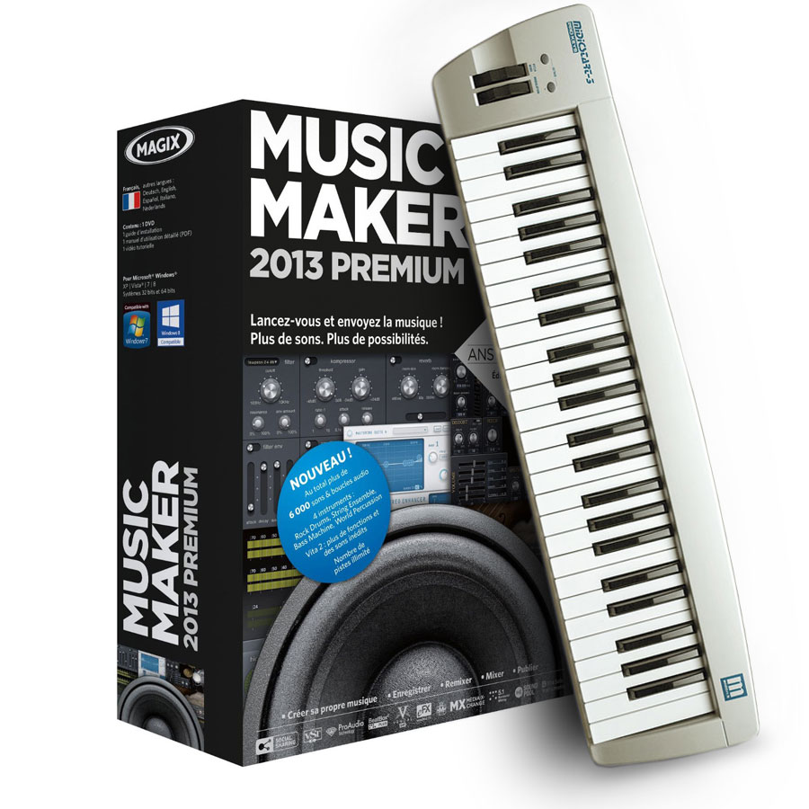 magix music maker 2013 control fran ais pc sg01391 achat vente logiciel musique mp3. Black Bedroom Furniture Sets. Home Design Ideas
