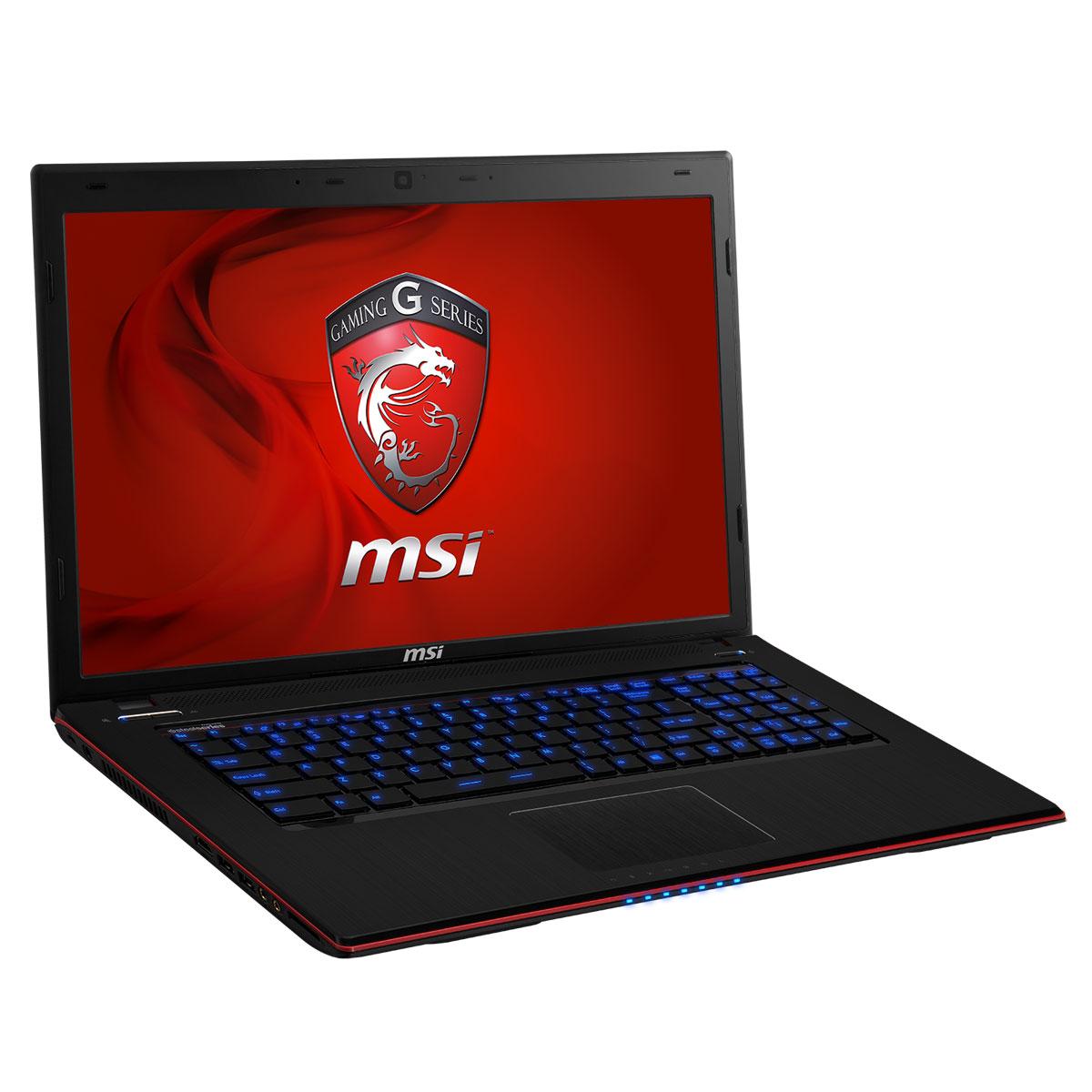 "PC portable MSI GE70 2OE-020FR Intel Core i7-4700MQ 8 Go 750 Go 17.3"" LED NVIDIA GeForce GTX 765M Lecteur Blu-ray/Graveur DVD Wi-Fi N/Bluetooth Webcam Windows 8 64 bits (garantie constructeur 2 ans)"