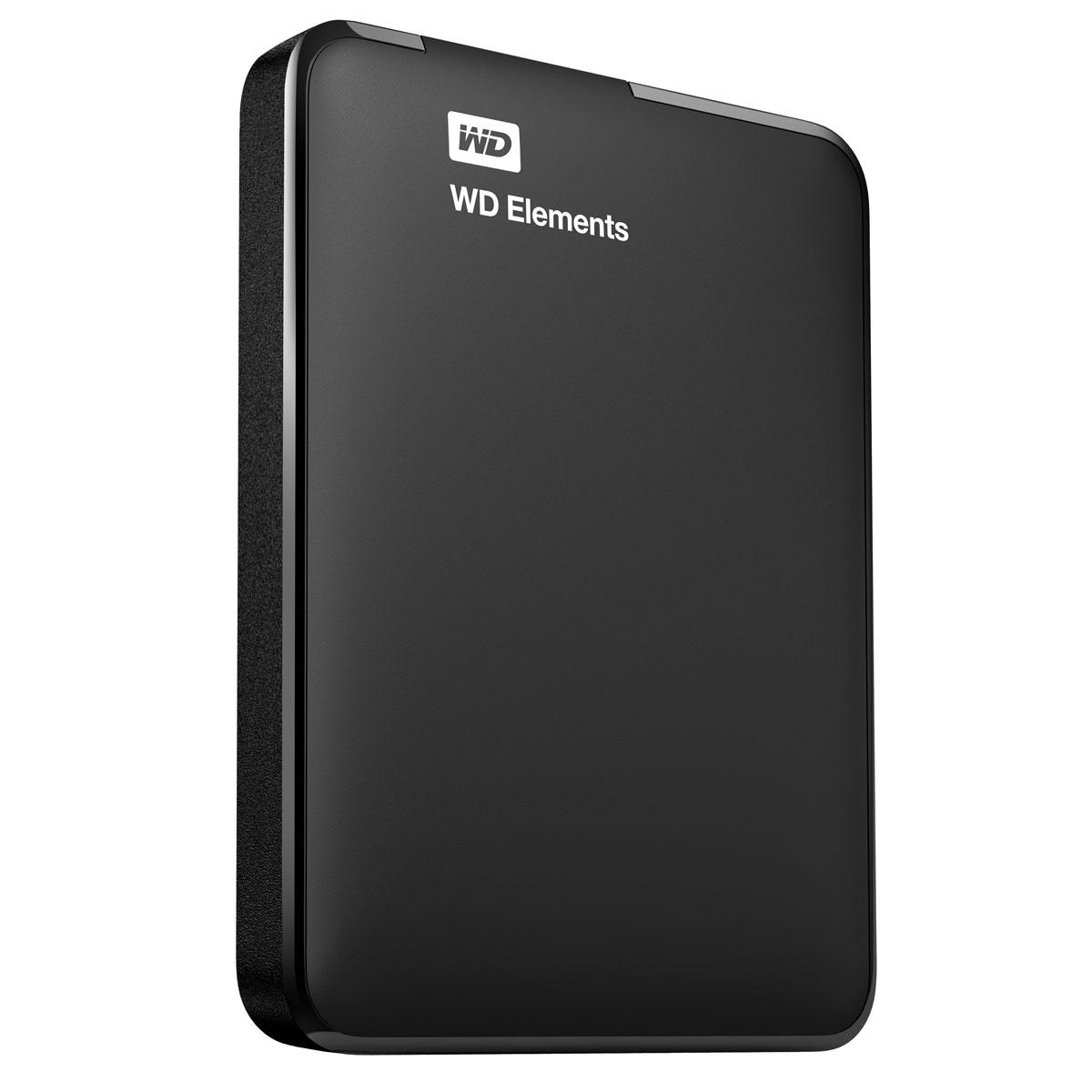 """Disque dur externe WD Elements Portable 2 To Noir (USB 3.0) Disque dur externe 2.5"""" sur port USB 3.0 / USB 2.0"""