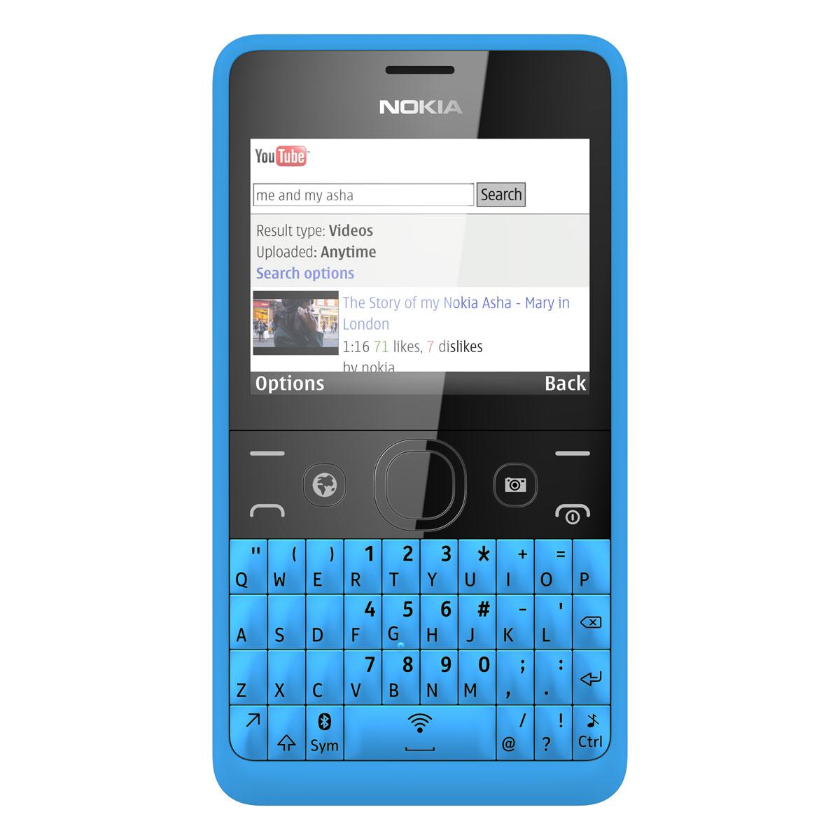 nokia asha 210 double sim cyan a00012258 achat vente mobile smartphone sur. Black Bedroom Furniture Sets. Home Design Ideas