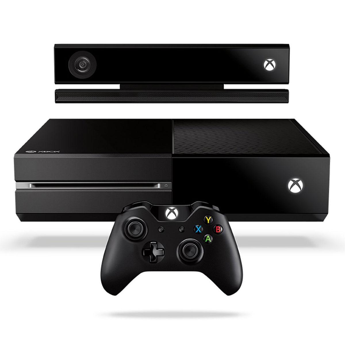 Console Xbox One Microsoft Xbox One + Kinect + FIFA 14 Console de jeux-vidéo nouvelle génération avec disque dur 500 Go + capteur de mouvements + jeu