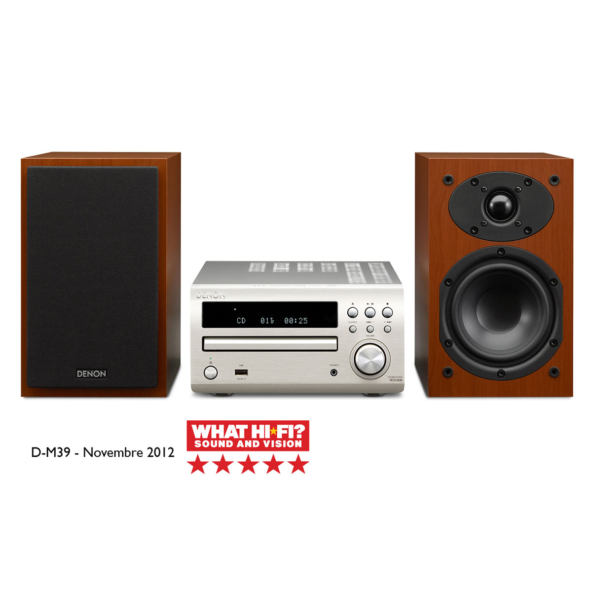 denon d m39 argent bois cha ne hifi denon sur ldlc. Black Bedroom Furniture Sets. Home Design Ideas