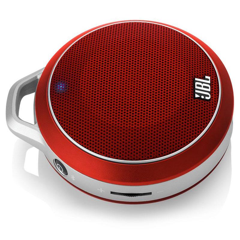 Dock & Enceinte Bluetooth JBL Micro Wireless Rouge Enceinte ultra portable pour smartphone et lecteurs MP3 avec connectivité Bluetooth