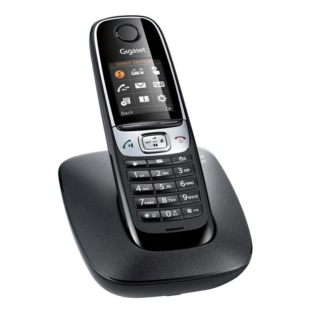 gigaset c620 noir t l phone sans fil gigaset sur ldlc. Black Bedroom Furniture Sets. Home Design Ideas