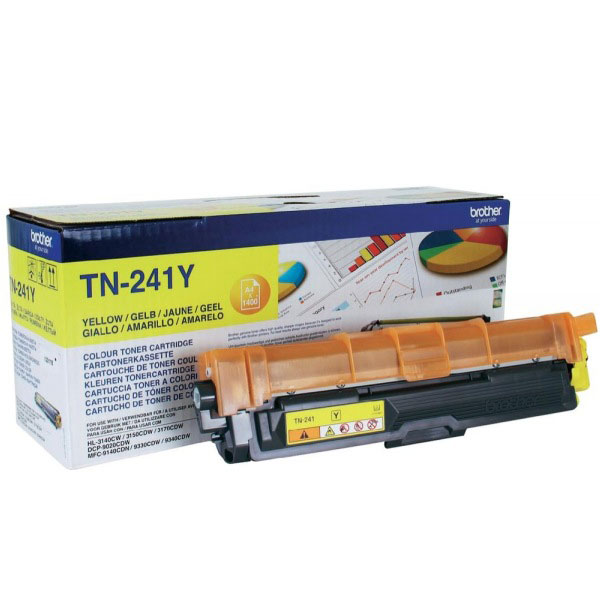 Toner imprimante Brother TN-241Y Toner Jaune (1 400 pages à 5%)