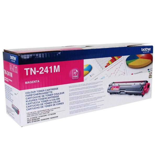 Toner imprimante Brother TN-241M Toner Magenta (1 400 pages à 5%)