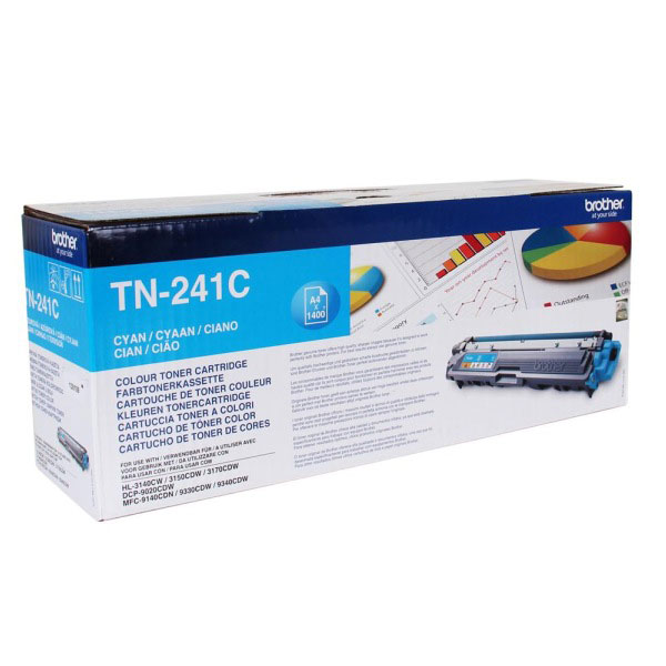 Toner imprimante Brother TN-241C Toner Cyan (1 400 pages à 5%)