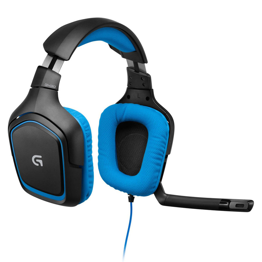 Micro-casque Logitech G430 Surround Sound Gaming Headset Casque-micro pour gamer avec son surround 7.1 et compatible PlayStation 4