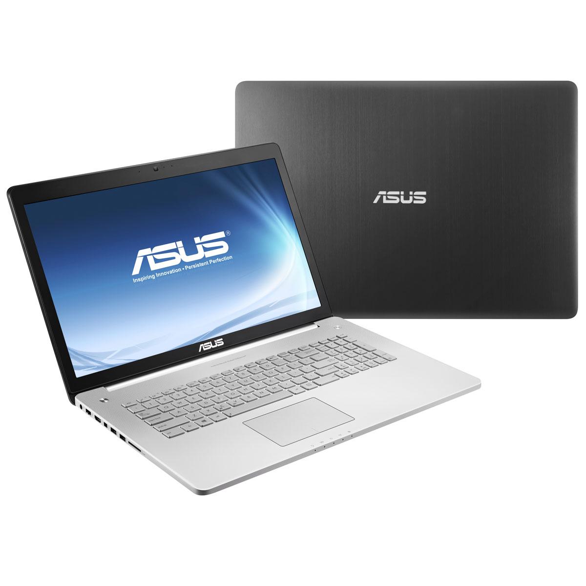 "PC portable ASUS N750JV-T4222H Intel Core i7-4700HQ 16 Go SSD 256 Go + HDD 1.5 To 17.3"" LED NVIDIA GeForce GT 750M Graveur Blu-ray/DVD Wi-Fi N/Bluetooth Webcam Windows 8 64 bits (garantie constructeur 1 an)"