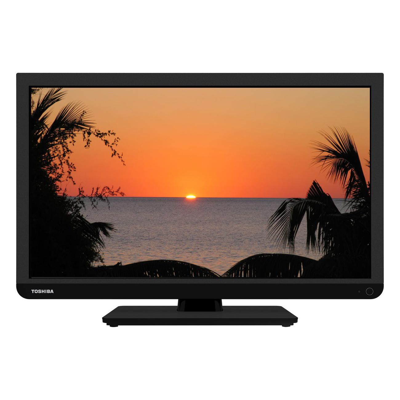 """TV Toshiba 24W1333G Téléviseur LED 24"""" (61 cm) 16/9 - 1366 x 768 pixels - Tuner TNT HD et Câble - HDTV - USB - 50 Hz"""