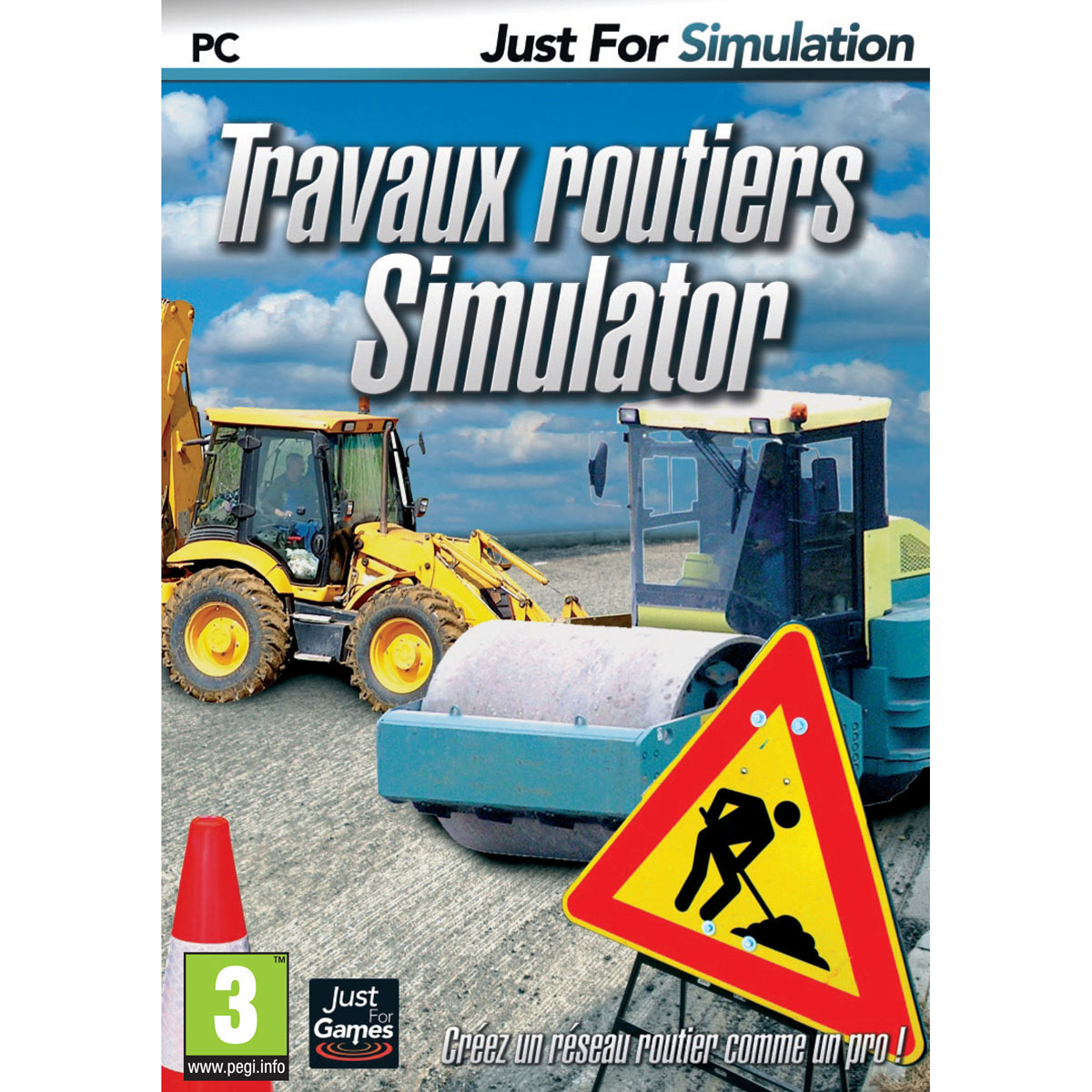 travaux routiers simulator pc jeux pc just for games sur ldlc. Black Bedroom Furniture Sets. Home Design Ideas