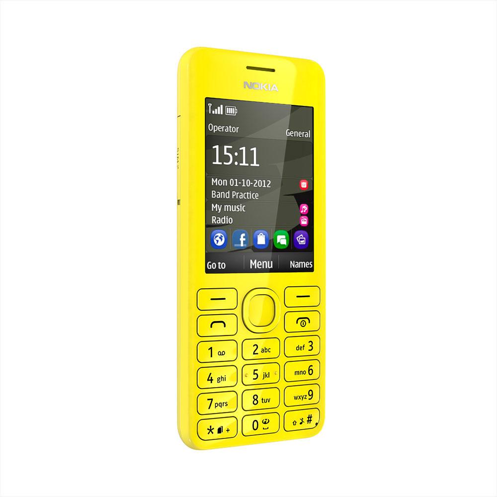 nokia 206 double sim jaune mobile smartphone nokia sur. Black Bedroom Furniture Sets. Home Design Ideas