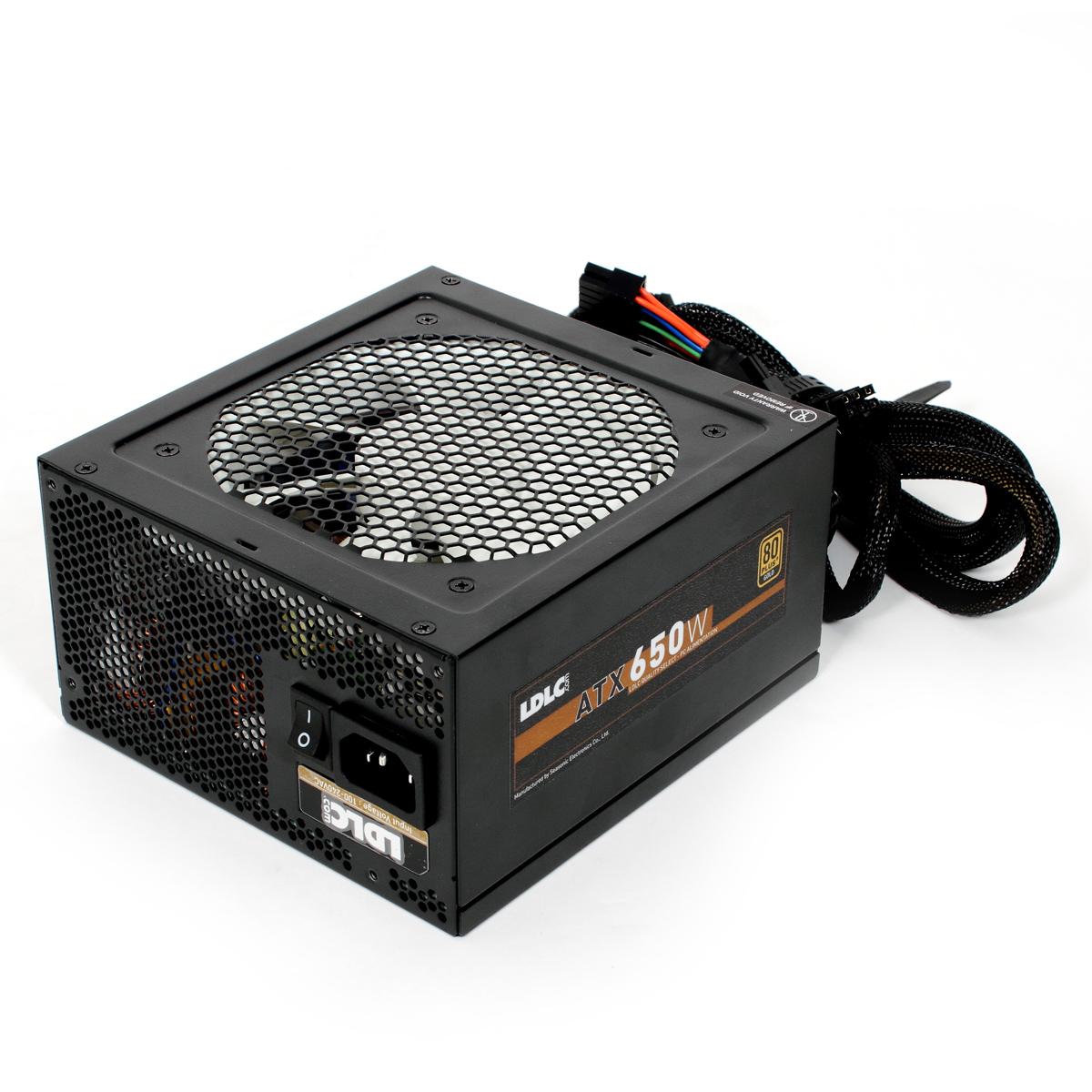 Alimentation PC LDLC QS-650+ Quality Select 80PLUS Gold (Garantie 5 ans) Alimentation modulaire 650W ATX 12V Ventilateur 120 mm - 80PLUS Gold