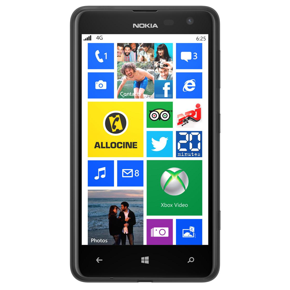 """Mobile & smartphone Nokia Lumia 625 Noir Smartphone 4G-LTE avec écran tactile 4.7"""" sous Windows Phone 8"""