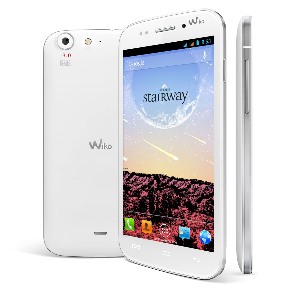 "Mobile & smartphone Wiko Stairway Blanc Smartphone 3G+ Dual Sim avec écran tactile HD 5.0"" sous Android 4.2"