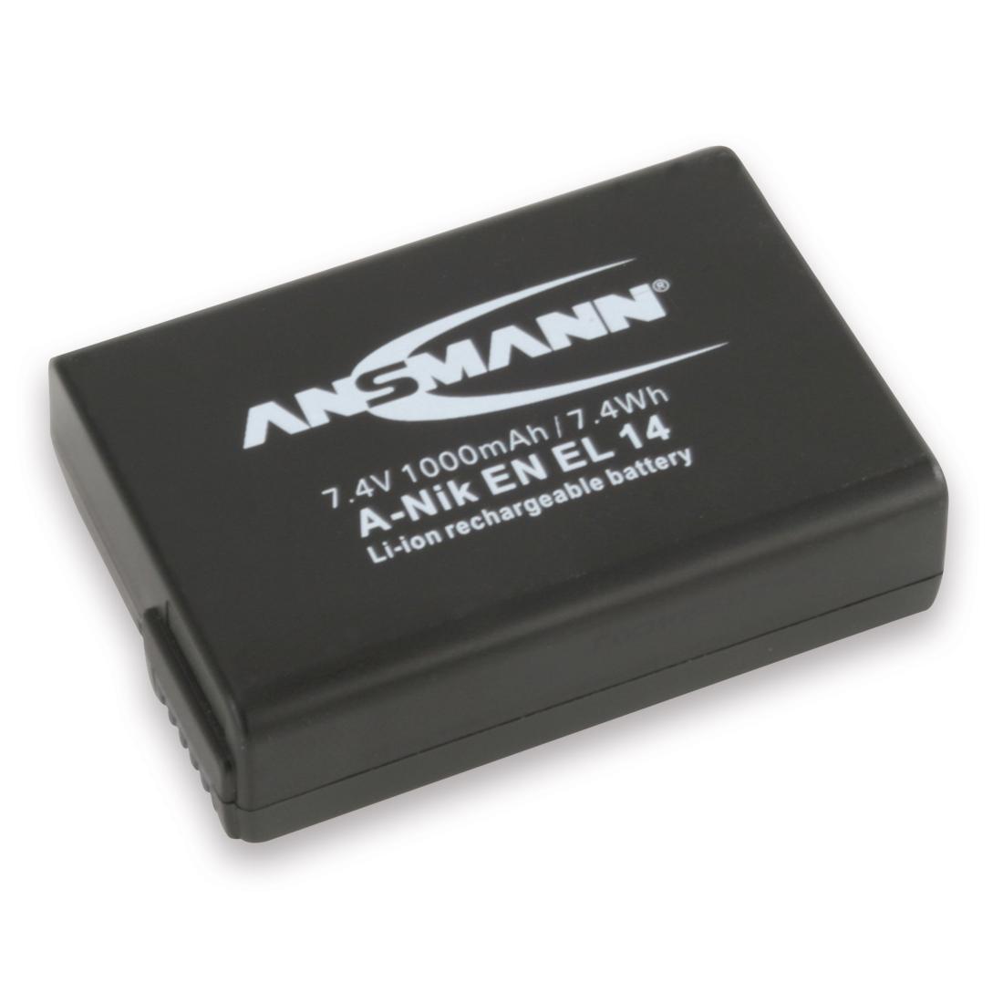 Batterie appareil photo ANSMANN A-NIK EN-EL14 Batterie compatible Nikon EN-EL14