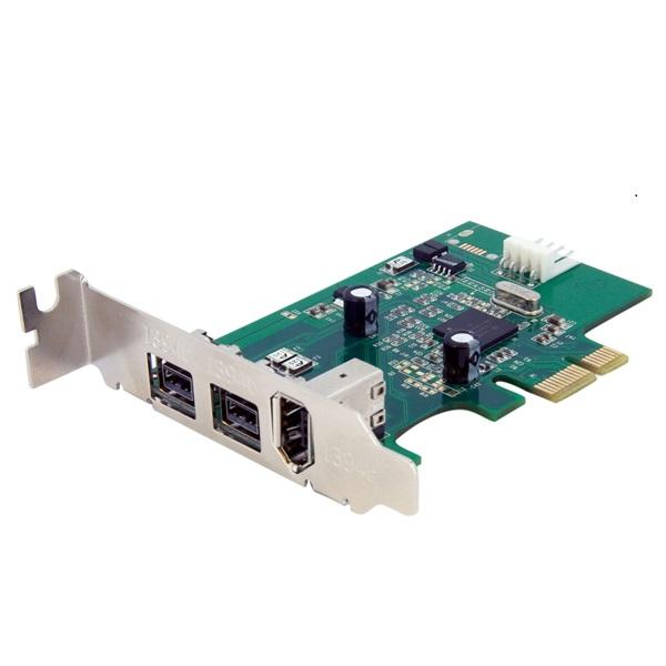 Carte contrôleur StarTech.com PEX1394B3LP Carte contrôleur PCI-E LP (2 ports FW800 + 1 port FW400)