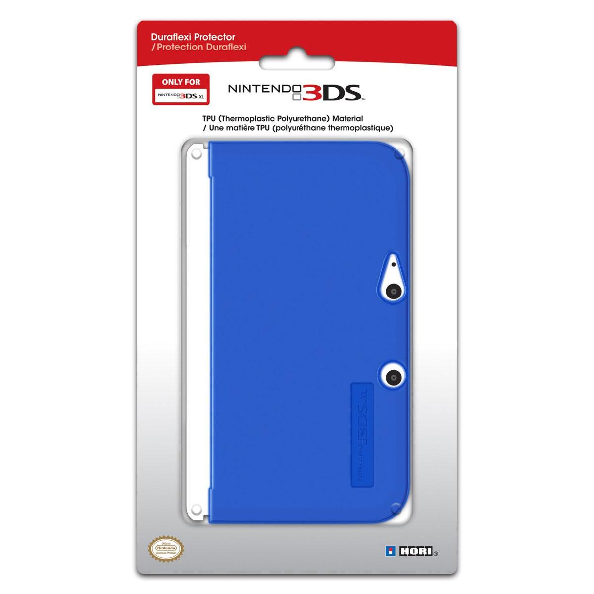 Hori coque de protection silicone bleu nintendo 3ds xl for Coque 3ds xl pokemon