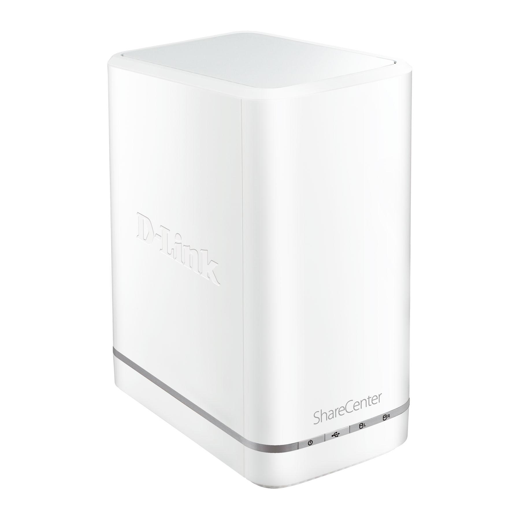 Serveur NAS D-Link DNS-327L ShareCenter Cloud Serveur de stockage réseau 2 baies (sans disque dur)