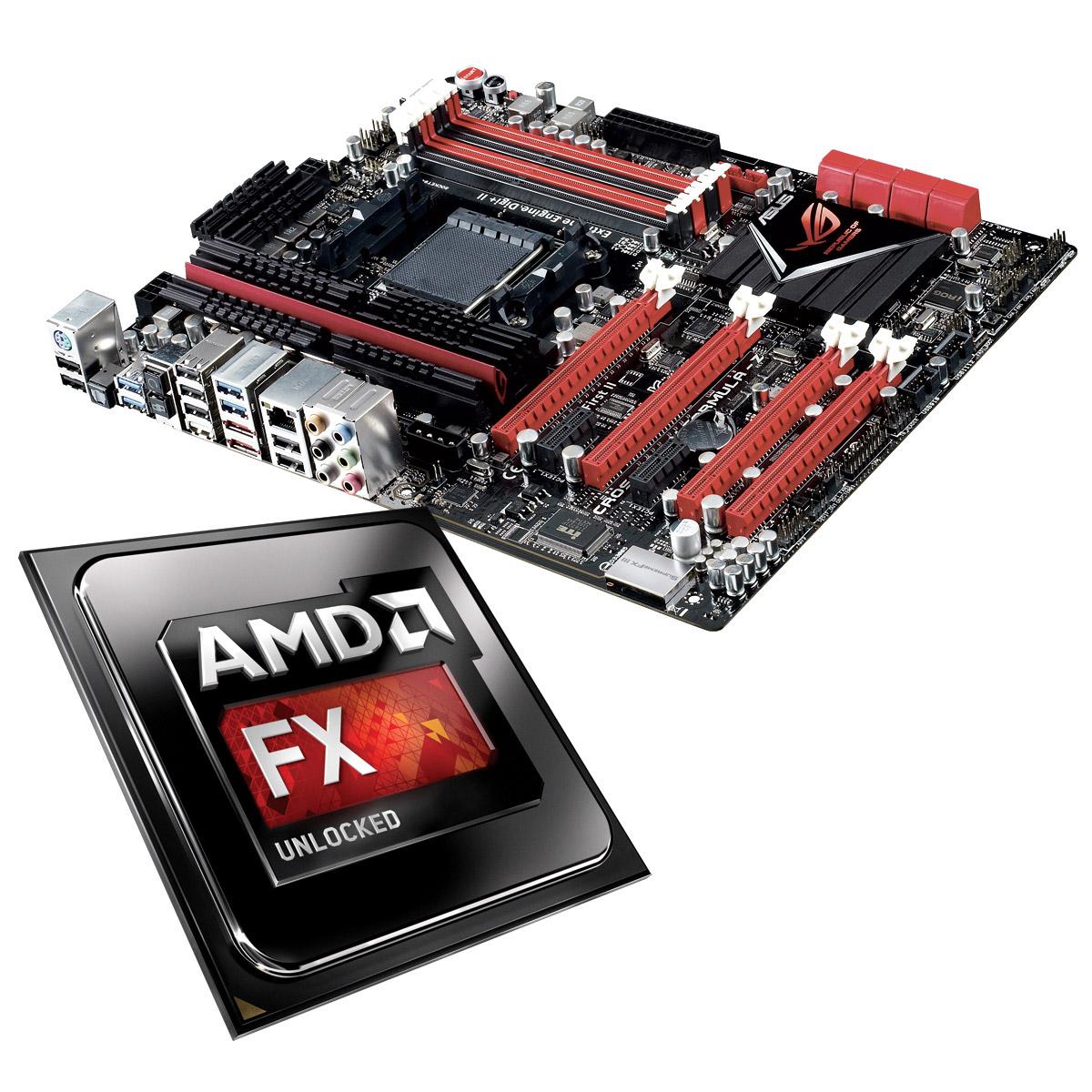 Processeur AMD FX 9370 Unlocked + ASUS Crosshair V Formula Z Processeur 8-Core 4.7 GHz socket AM3+ Cache L3 8 Mo + Carte mère ATX AMD 990FX