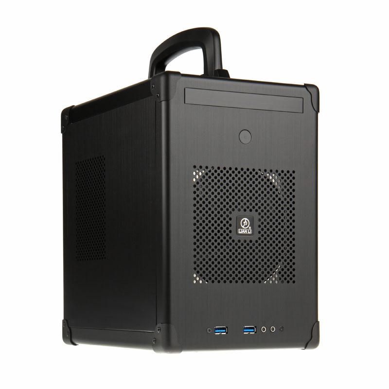 Boîtier PC Lian Li PC-TU100 (noir) Boîtier mini-tour en aluminium avec poignée de transport (coloris noir)