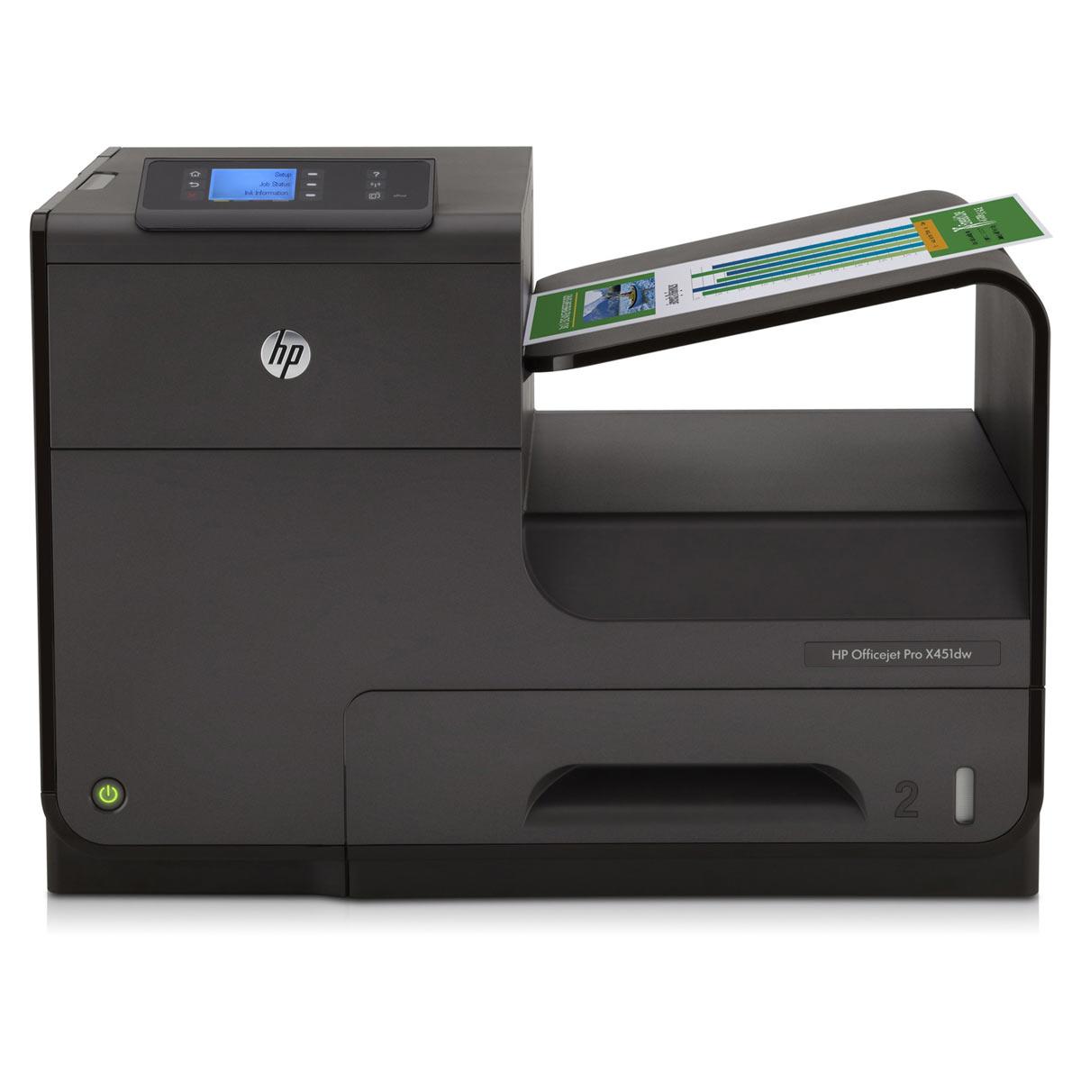 Imprimante jet d'encre HP Officejet Pro X451dw Imprimante jet d'encre couleur (USB 2.0 / Ethernet / Wi-Fi)