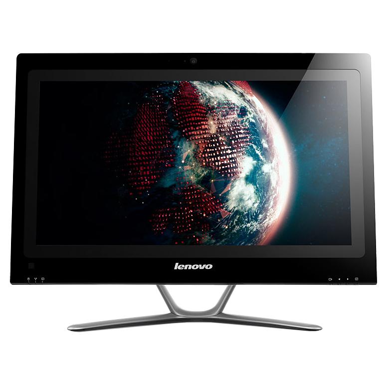 """PC de bureau Lenovo IdeaCentre C440 (57318029) Intel Pentium G2030 4 Go 1 To LED Tactile 21.5"""" Graveur DVD Wi-Fi N Webcam Windows 8 64 bits"""