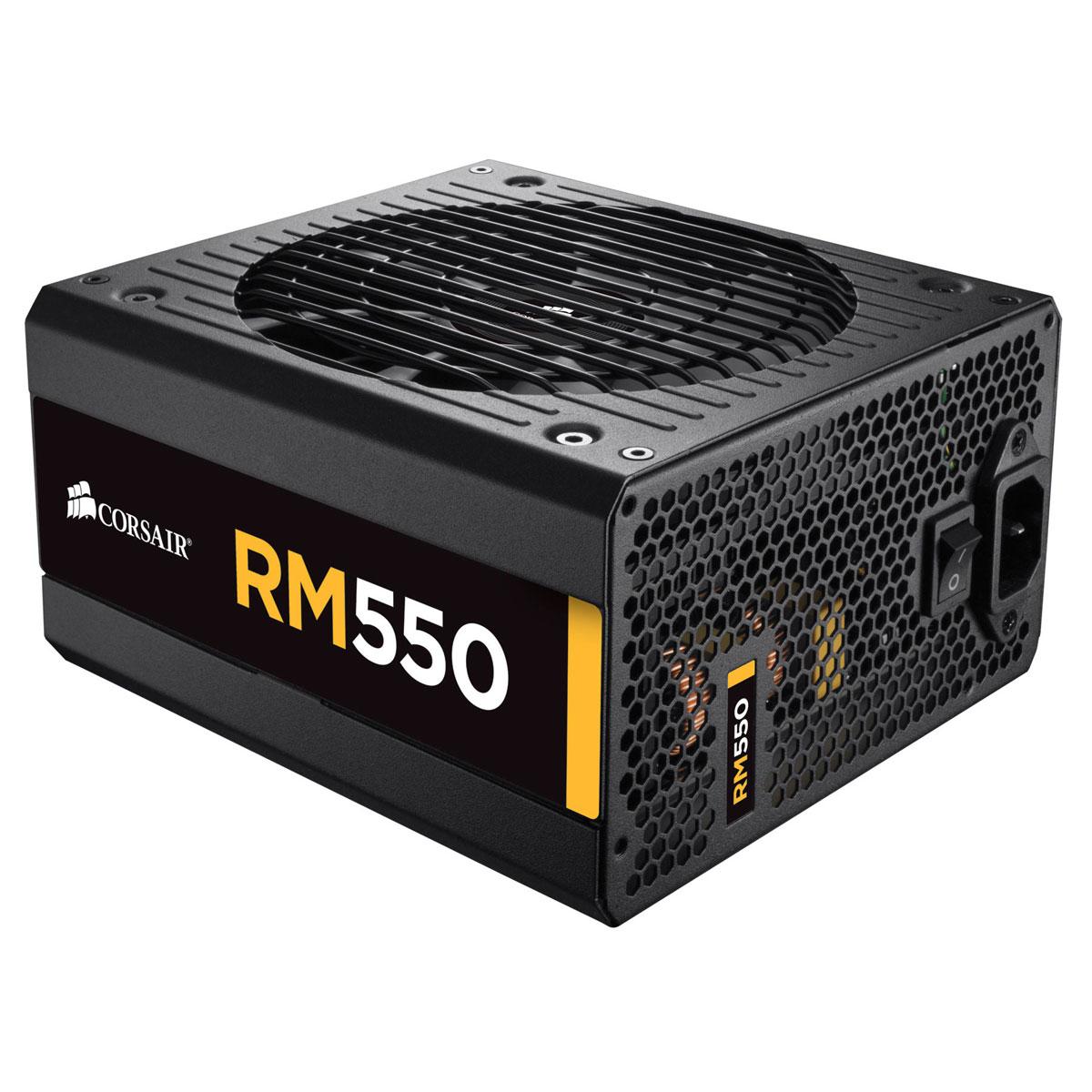 Alimentation PC Corsair RM550 80PLUS Gold Alimentation modulaire 550W ATX 12V 2.31 / EPS 2.92 - 80PLUS Gold (Garantie 5 ans par Corsair)