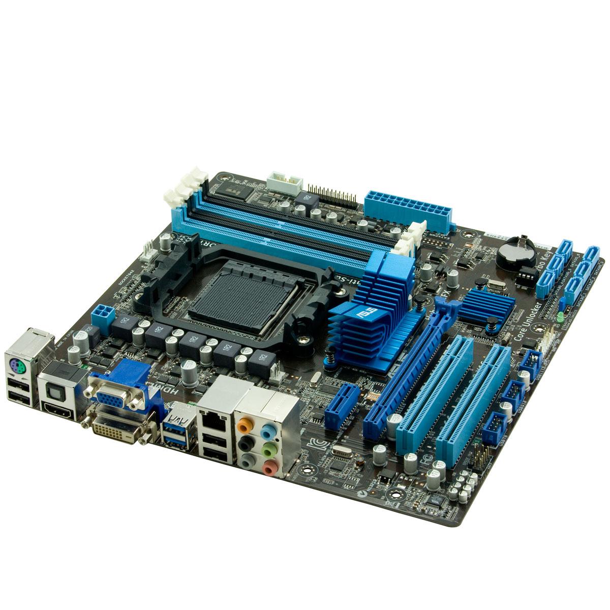 Carte mère ASUS M5A78L-M/USB3 Carte mère Micro ATX Socket AM3+ AMD 760G - SATA 3 Gbps - USB 3.0