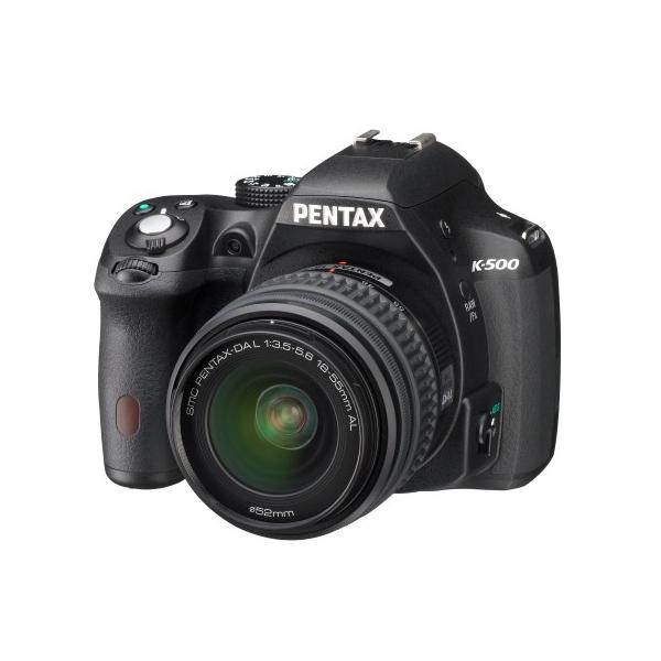 "Appareil photo Reflex Pentax K-500 + Objectif DAL 18-55mm f/3,5-5,6 AL Réflex Numérique 16 MP stabilisé - Ecran 3"" - Vidéo Full HD + Objectif DAL 18-55mm f/3,5-5,6 AL"