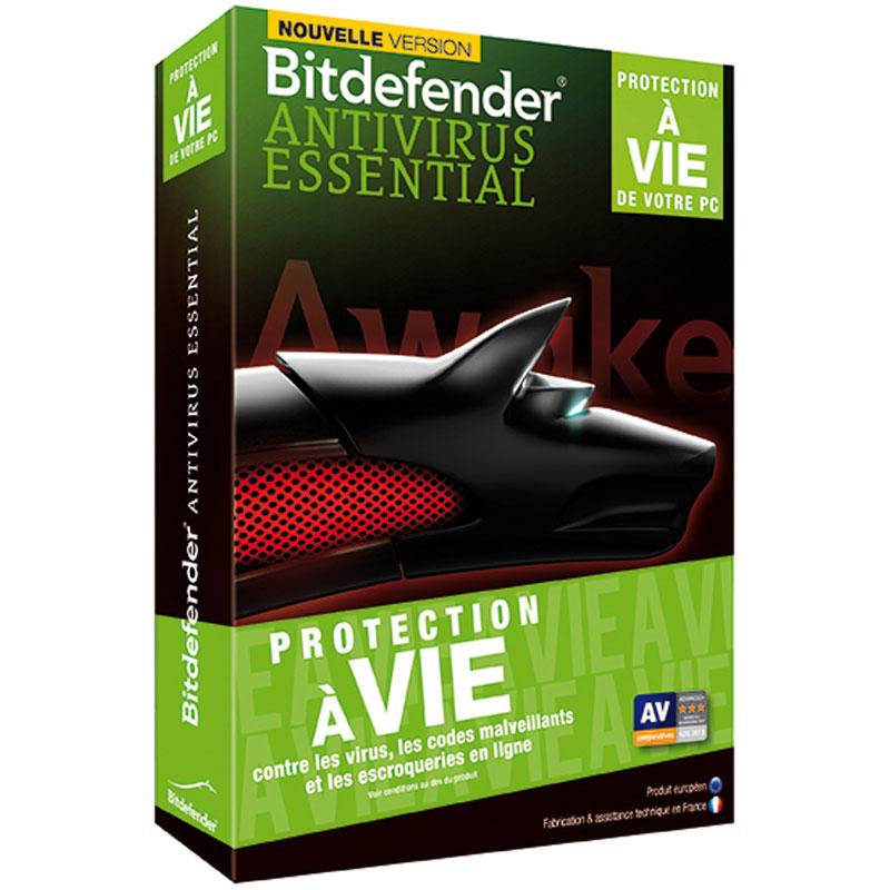 bitdefender antivirus essential 2014 protection vie 1 licence logiciel antivirus. Black Bedroom Furniture Sets. Home Design Ideas