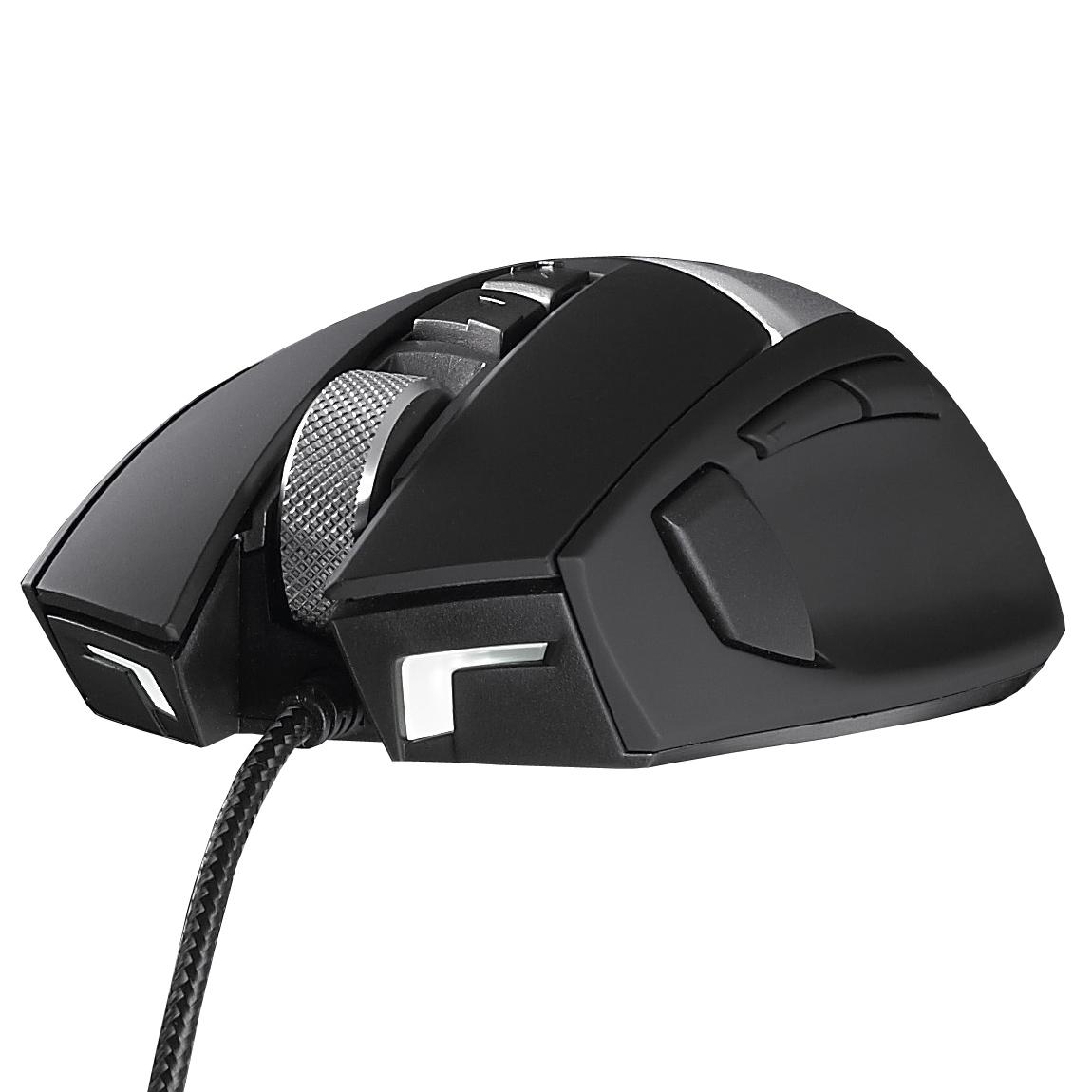 Souris PC Cooler Master Storm Reaper Souris filaire pour gamer - droitier - capteur laser 8200 dpi - 8 boutons - rétro-éclairage