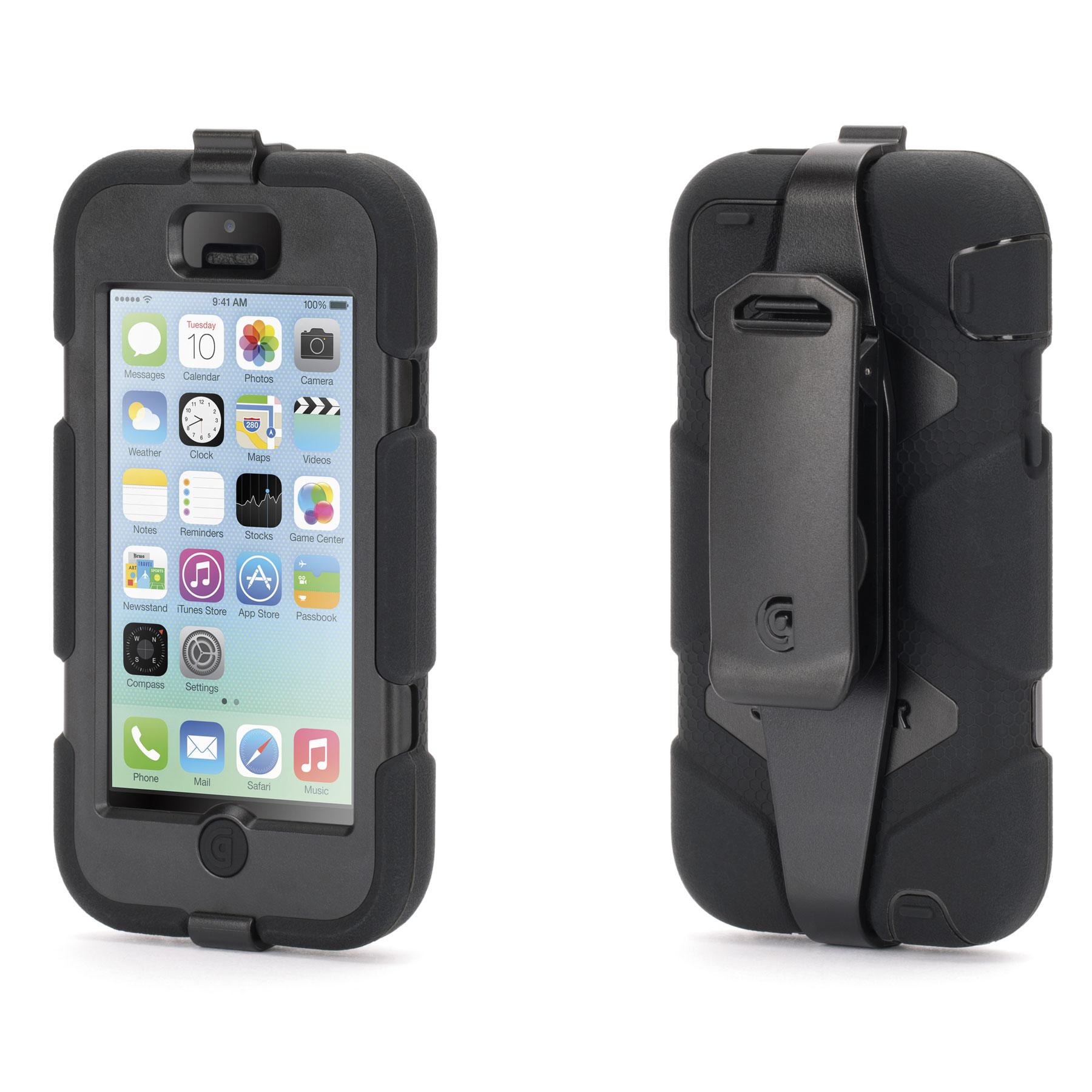 griffin survivor noir apple iphone 5c etui t l phone griffin technology inc sur ldlc. Black Bedroom Furniture Sets. Home Design Ideas