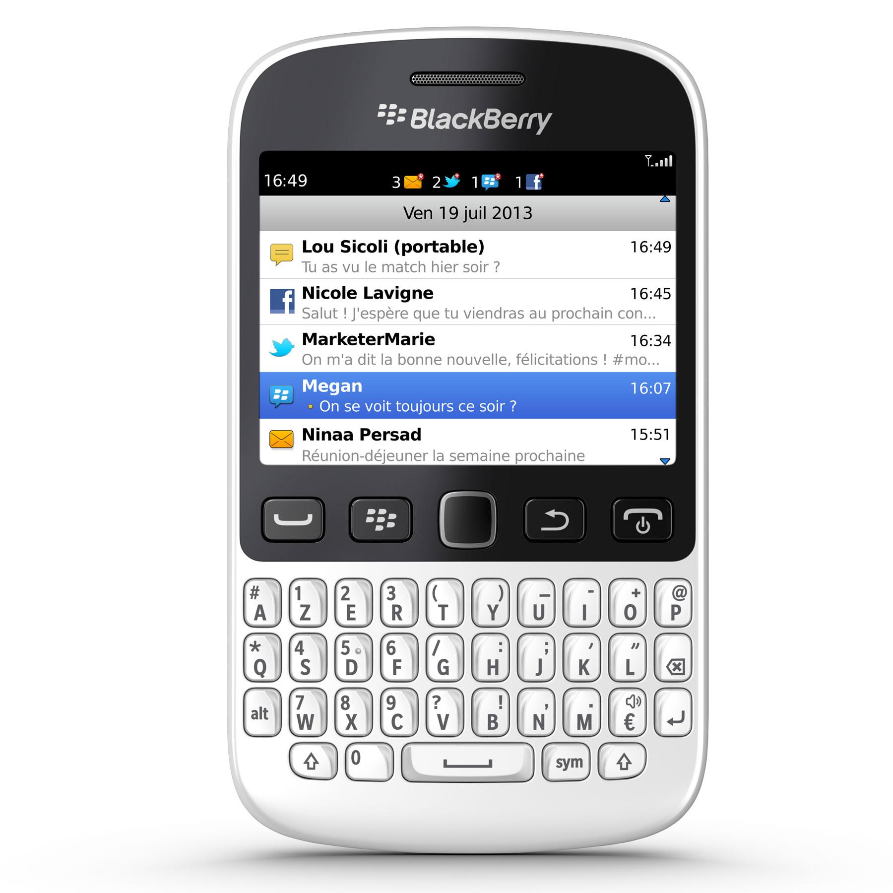 blackberry 9720 azerty blanc mobile smartphone. Black Bedroom Furniture Sets. Home Design Ideas