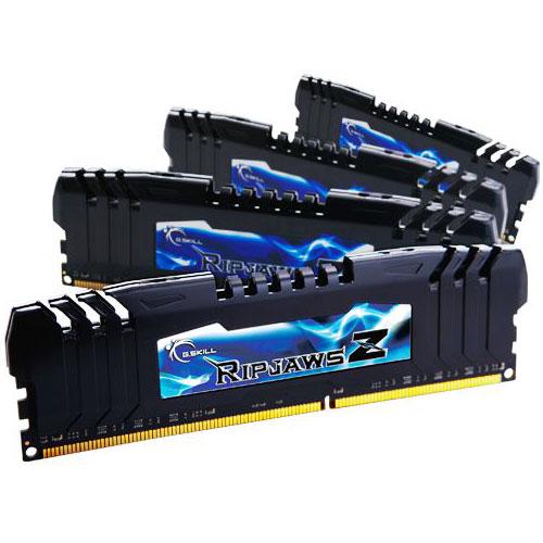 Mémoire PC G.Skill RipJaws Z Series 16 Go (4 x 4 Go) DDR3 2666 MHz CL11 Kit Quad Channel DDR3 PC3-21300 - F3-2666C11Q-16GZHD - (garantie à vie par G.Skill)