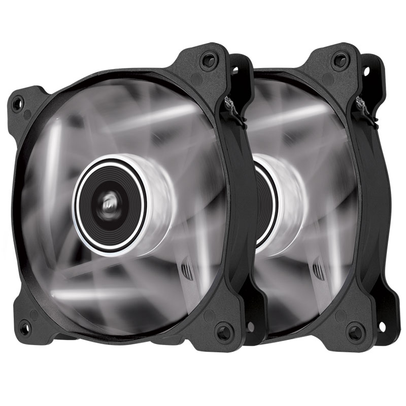 Ventilateur boîtier Corsair Twin Pack Air Series AF120 White Quiet Edition High Airflow Paire de ventilateurs de boîtier 120 mm avec LEDs blanches