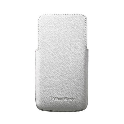 Etui téléphone BlackBerry Leather Pocket Blanc BlackBerry Z30 Etui en cuir pour BlackBerry Z30