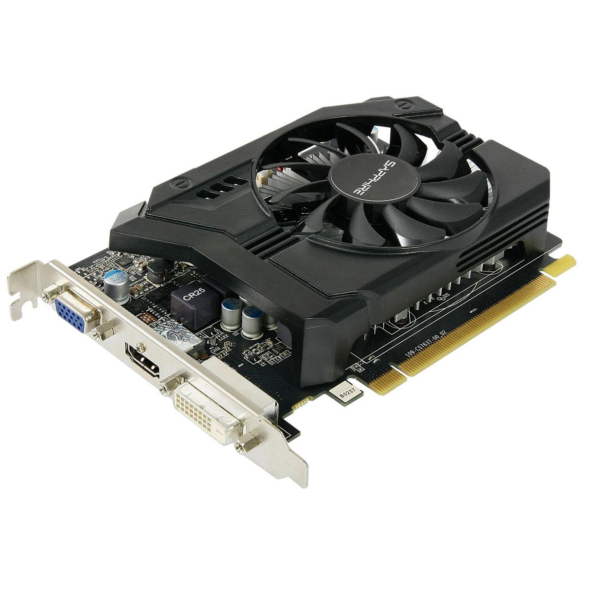 Carte graphique Sapphire Radeon R7 250 1G GDDR5 1 Go HDMI/DVI - PCI Express (AMD Radeon R7 250)