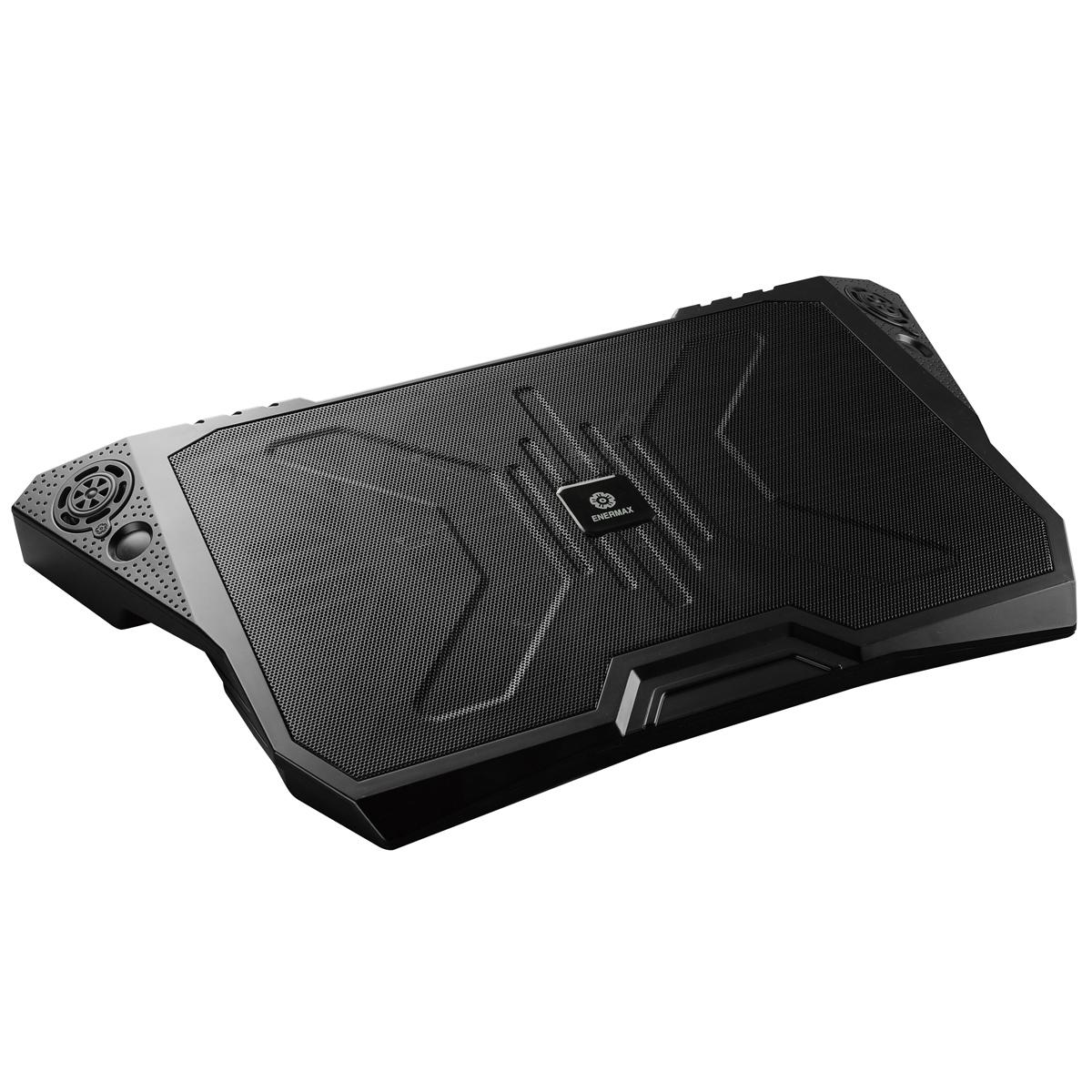Ventilateur PC portable Enermax AeroOdio Système de refroidissement avec haut-parleurs stéréo pour ordinateur portable (jusqu'à 17 pouces)