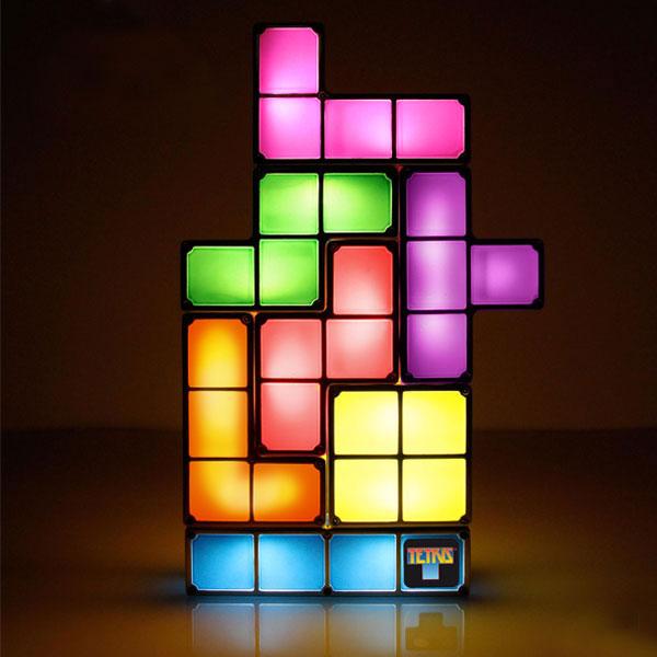 Jeux et Accessoires Abysse Corp TETRIS Interlocking Light Lampe rétro Tetris à construire