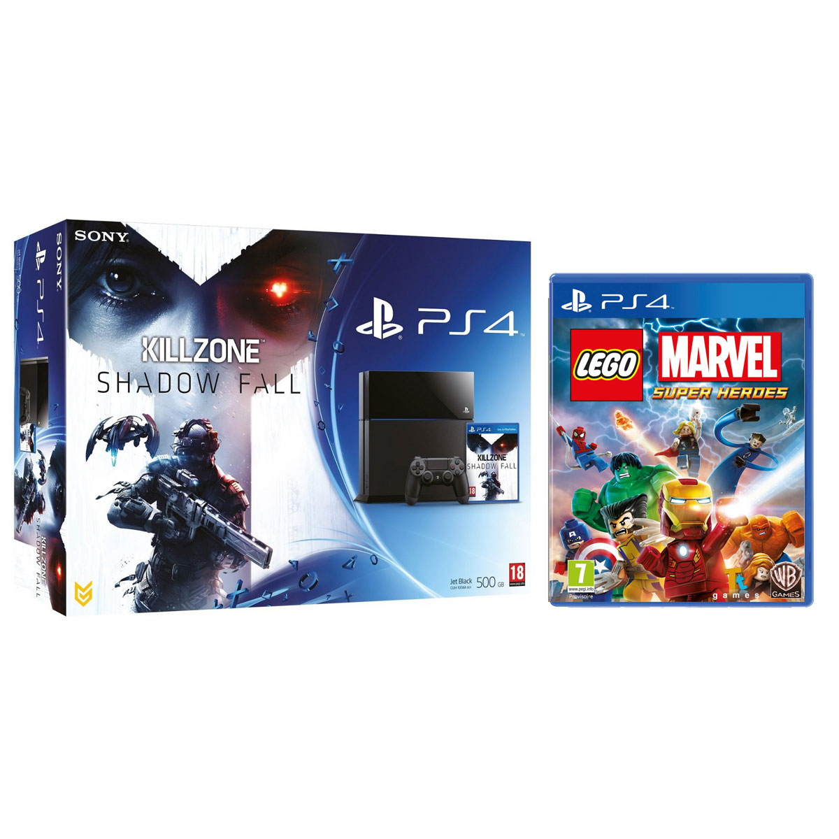 sony playstation 4 killzone shadow fall lego marvel. Black Bedroom Furniture Sets. Home Design Ideas