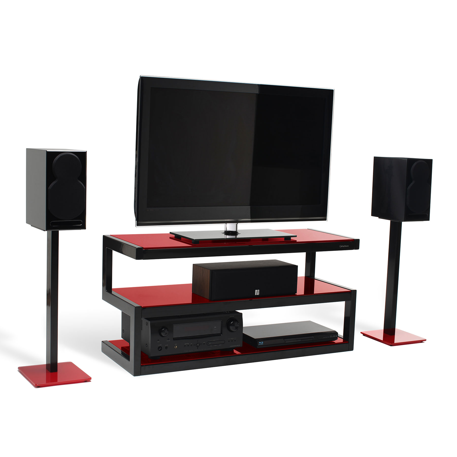 norstone esse blanc meuble tv norstone sur ldlc. Black Bedroom Furniture Sets. Home Design Ideas