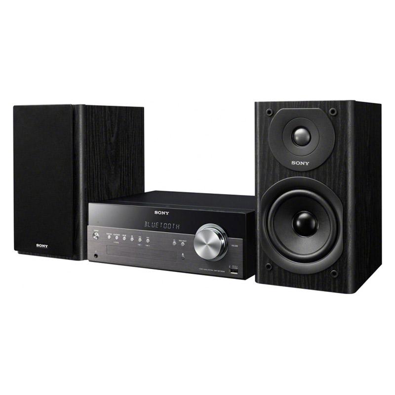 Chaîne Hifi Sony CMT-SBT300W Micro-chaîne CD MP3 Bluetooth NFC DLNA AirPlay Wi-Fi USB - Compatible iPhone/iPod